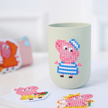 ZOOYA DIY Diamond Painting Cartoon Merry Christmas Embroidery For Kids Round Sticker Happy New Year Gift Mosaic