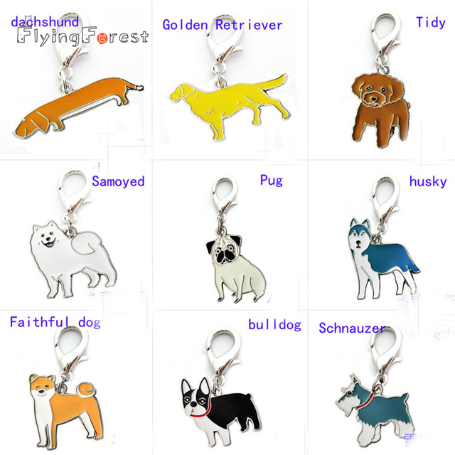 10pcs/lot Wholesale Cat Dogs Pet Pendant Pet Dog Tag Necklace Pendants Faithful