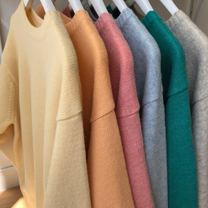 Image 5 - Swetry damskie solidne O Neck ciepłe proste eleganckie studenci koreański styl wypoczynek kobiet luźne Kawaii kobiet sweter wysokiej jakości
