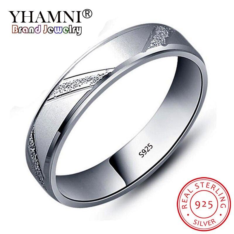 YHAMNI 100% Silver Wedding Rings for Men and Women 925 ...