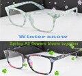 Óculos frames inverno sabor fonte decorações cartões de Retro óculos grandes quadros homens mulheres de óculos