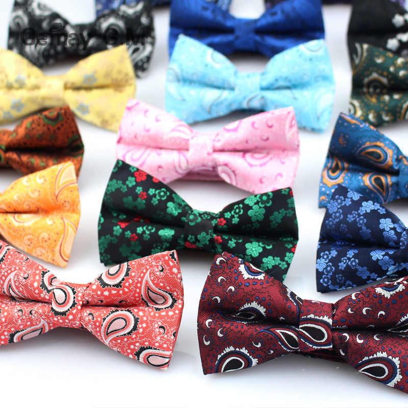 Брендовый мужской галстук-бабочка, классический галстук-бабочка Пейсли, деловые свадебные рубашки, полиэстер, бант, галстуки-бабочки для мужчин, Аксессуары для галстуков