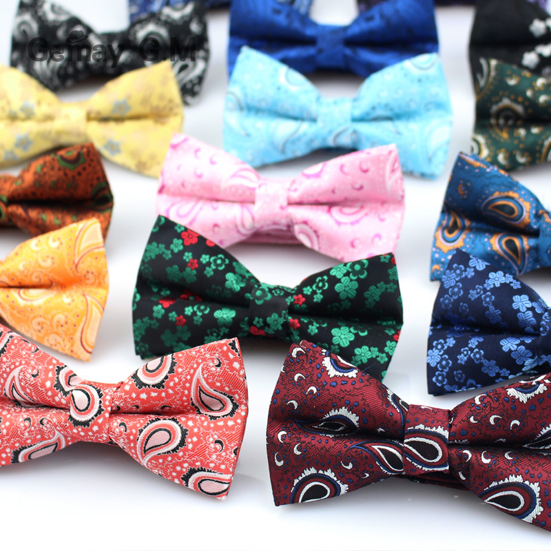 Brand Mens Bowtie Classic Paisley Bow Tie Business Wedding Shirts Polyester Bowknot Bow Ties For Men Cravats Accessories