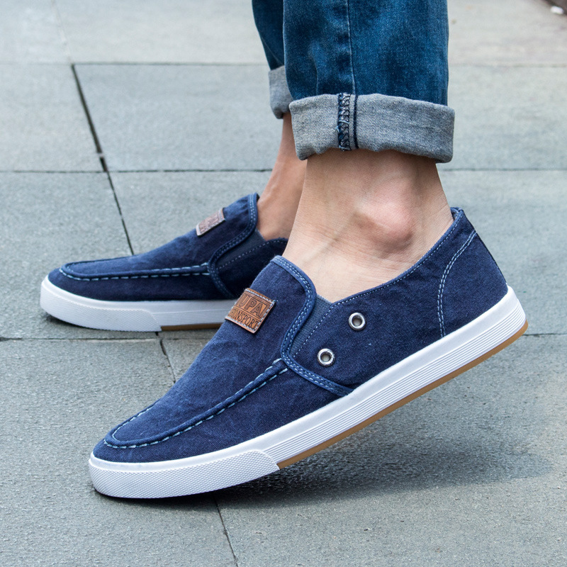 Summer Mens Canvas Shoes Denim Mens Loafers Espadrills Slip On Shoes
