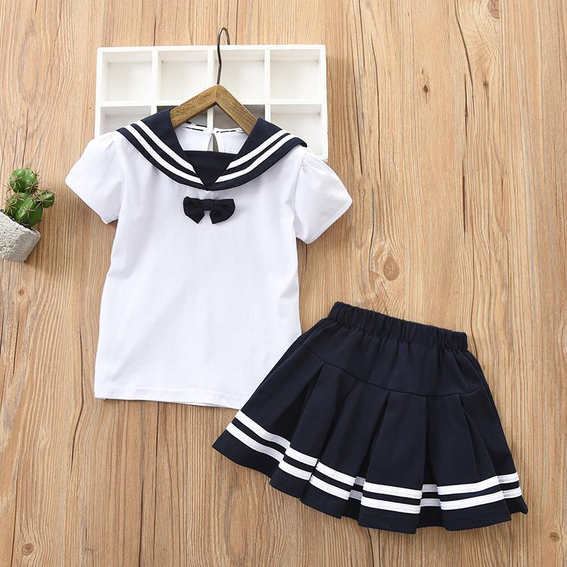 Children Sailor Suit School Uniform Sets for Girls Boys Cotton Tops Skirt  Set Student Kids Clothes Set BC669-in Clothing Sets from Mother & Kids on  AliExpress