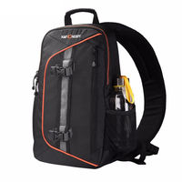 K&F Concept Waterproof Camera Backpack Sling Messenger Travel Bag Big Capacity Hold Dslr Tripod lpad With Rain Cover For Canon