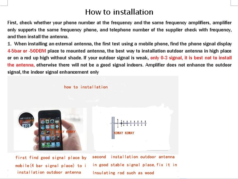 how to installation 01 yagi KOWAY