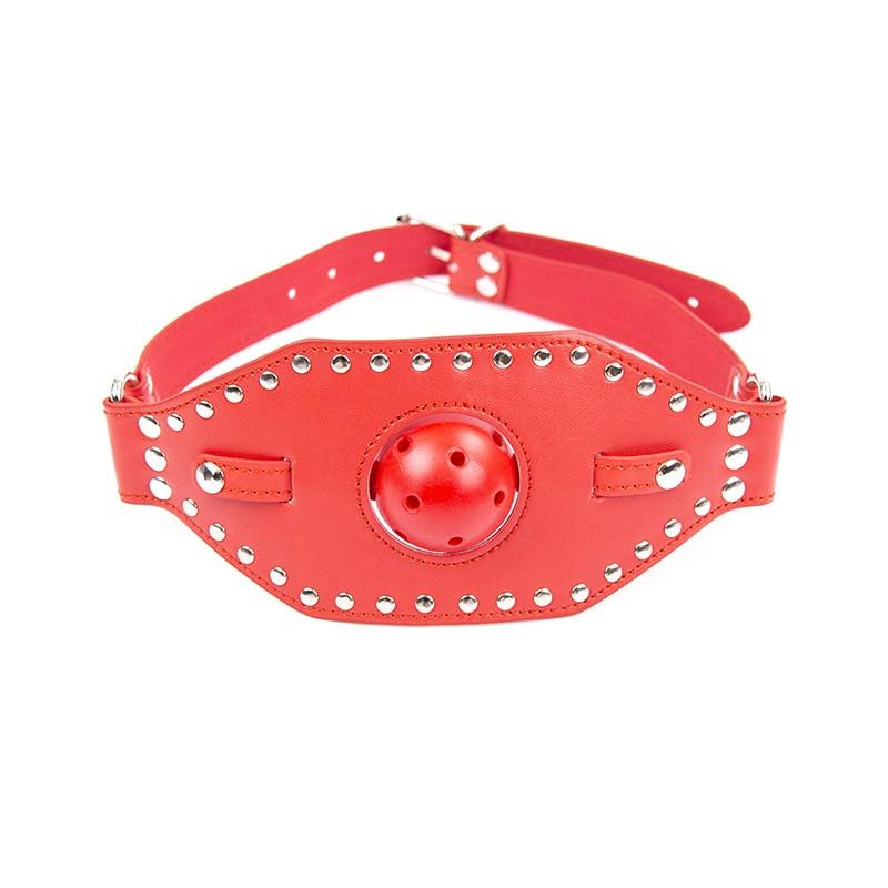 Adjustable 2 Color Fetish Bondage Sex Mask Harness Open Mouth Ball Plug Mouth Gag Adult Sex