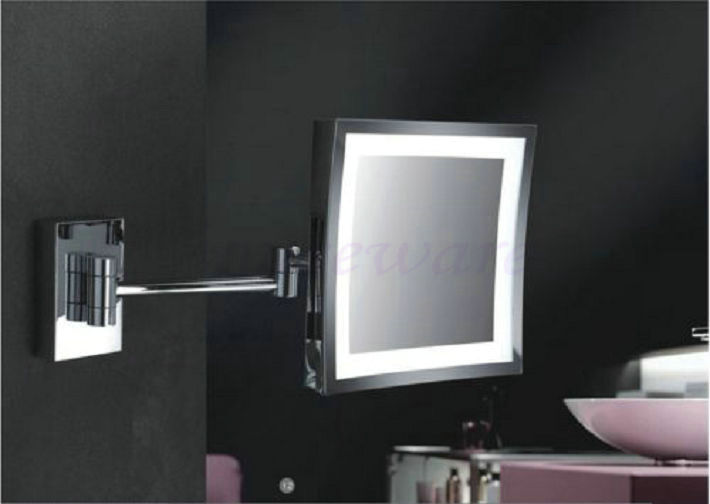 In Wall Concealed 3 x magnify 8  Square Cosmetic Shaving LED illuminated  Makeup Mirror wx. Online Buy Wholesale illuminated shaving mirror from China