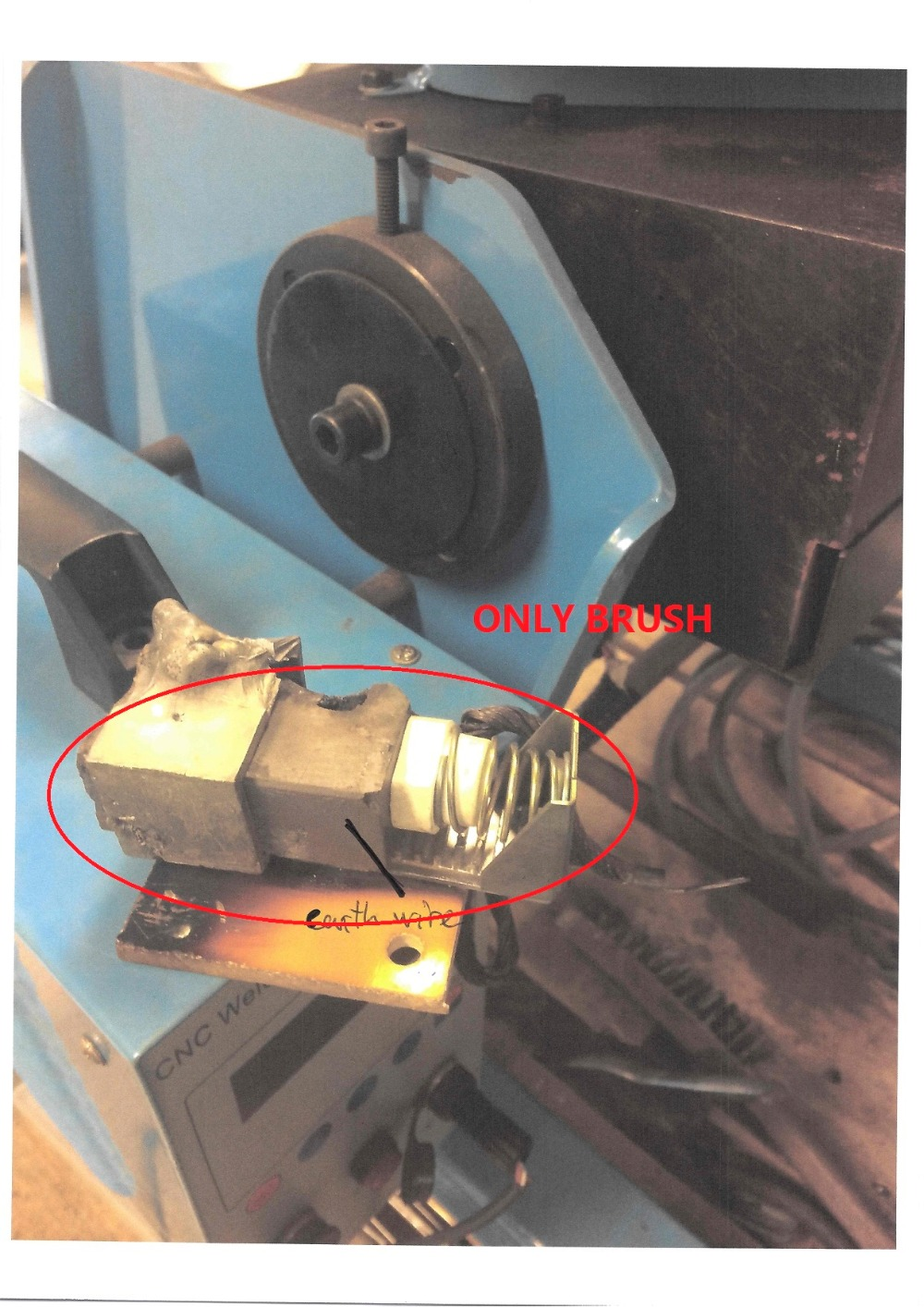 ONLY BRUSH for CNC-100 CNC-200 CNC-300 3D Adjustable Welding Positioner Turn Table Tube Welder semi-automatic welding