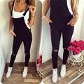 New Womens Bodycon Jumpsuit Macacões Calças Jeans Macacão Jeans Bib Calças
