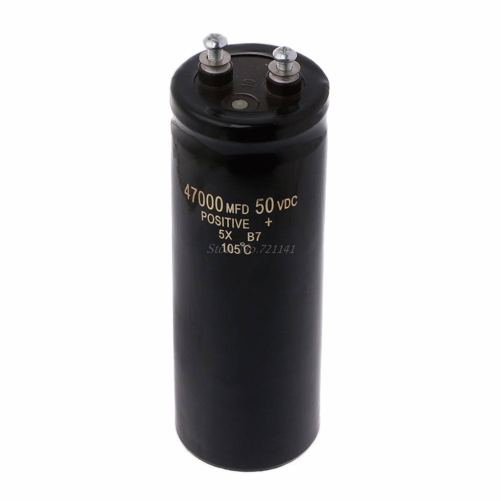 50V 47000UF/MFD Aluminum Screw Audio Filtering Electrolytic Capacitor 105 Celsius