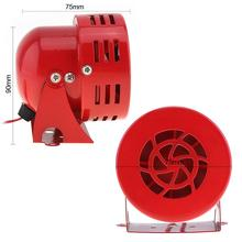 Universal 12V High-Quality Durable Metal Red Automotive Motorcycle Air Raid Siren Horn Car Truck Motor Driven Alarm 110dB