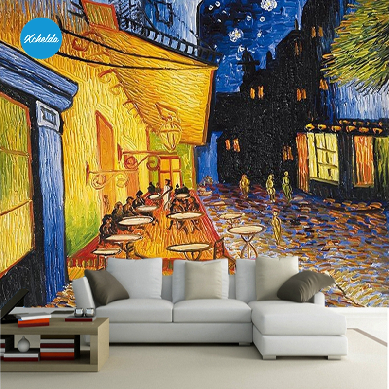 XCHELDA Custom 3D Wallpaper Design Oil Painting Photo Kitchen Bedroom Living Room Wall Murals Papel De Parede Para Quarto custom 3d wall murals wallpaper luxury silk diamond home decoration wall art mural painting living room bedroom papel de parede