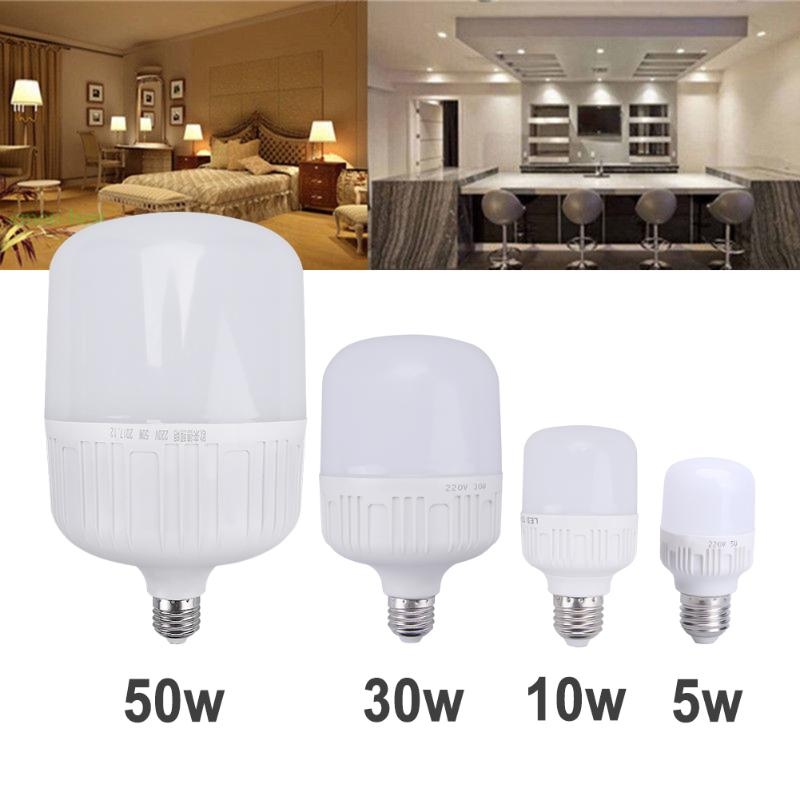 LED Bulb E27 5W 10W 30W 50W SMD 2835 2856 Real Power Led Light Bulb AC 220V Cold White LED Lamp Energy Saving