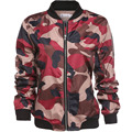 Women Long Sleeve Zip Up Camouflage Jacket with Pockets