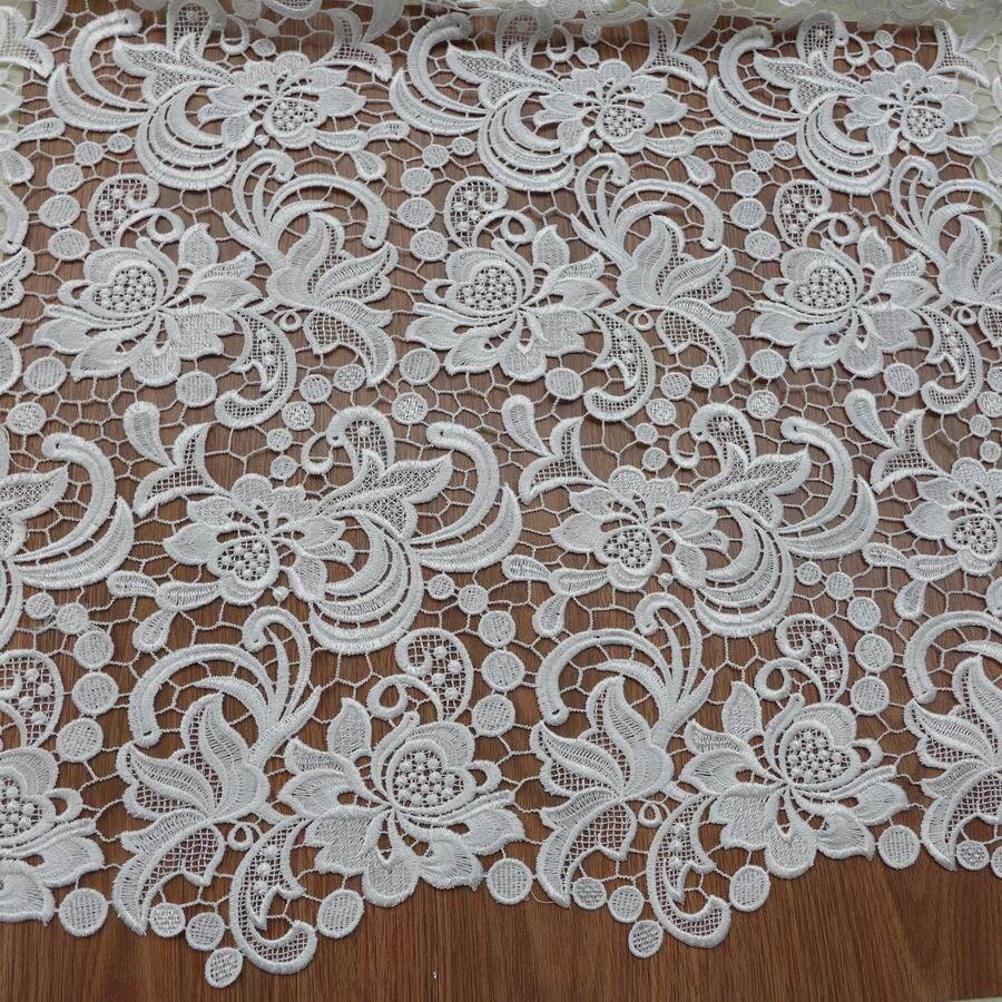 Tissu en dentelle de Venise, dentelle guipure, tissu blanc, tissu en dentelle de robe de mariée-in Tissu from Maison & Animalerie    2