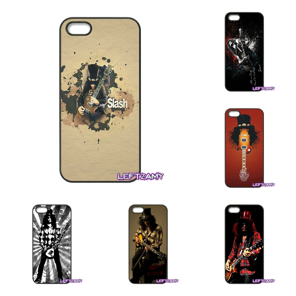 Slash guitars fashion Poster Hard Phone Case Cover For iPhone 4 4S 5 5C SE 6 6S 7 8 Plus X 4.7 5.5 iPod Touch 4 5 6