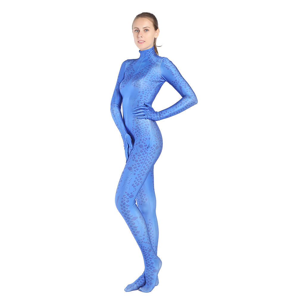 X-Men: reversing the Future Mystique Raven Cosplay Costume Zentai Jumpsuit Bodysuit Suit for Halloween Costume free shipping