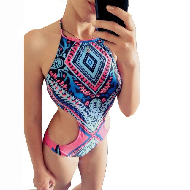 One piece swimsuit trikini Sexy Bodysuit Brazilian Swimming Suit