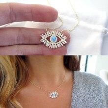 4815de25fa8c 2018 Nueva joyería de ojo malvado de la suerte llena de oro AAA baguette zirconia  cúbica cz turquesas piedra moda clásica ojo co.