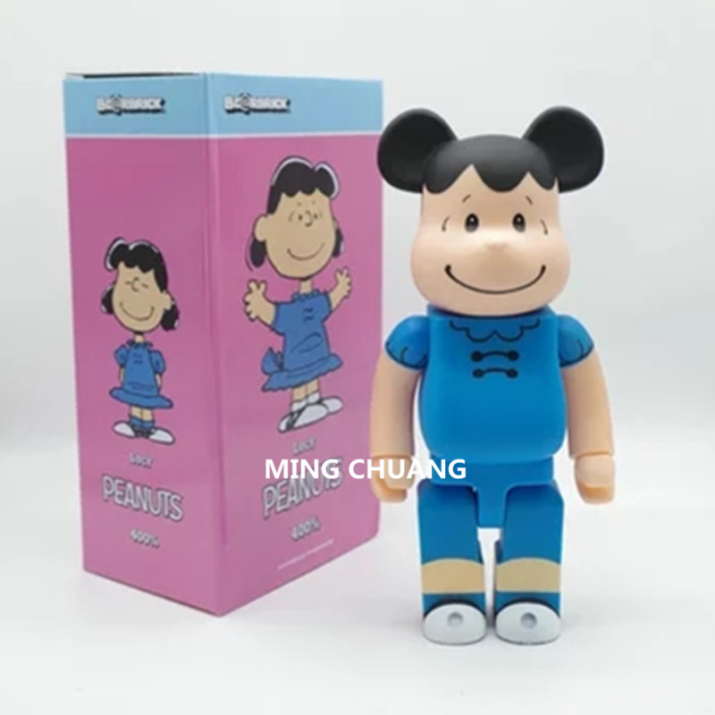 11 Inches Be@rbrick 400% Bearbrick Charlie Brown Lucy Gloomy BB PVC Action Figure Collectible Model Toy D182 batman bearbrick action figure 400