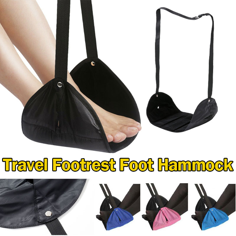 1 Pcs New Solid Rest Comfy Hanger Outdoor Travel Airplane Footrest Hammock Made Premium Memory Foam Foot Feet Casual Pad Hammock