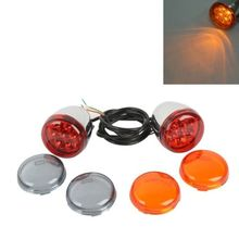 Motorcycle Front LED Turn Signal Light For Harley XL 883 XL1200 Sportster 2/3/4Wire 3 pairs motorcycle front