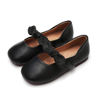 Gilrs Moccasins Baby Flat Shoes Princess Party Wedding Leather Shoes Spring Autumn Girls Soft Sole Mary Jane Shoes D0432