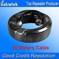Comercio al por mayor de 30 M de Largo Cable de 50 ohmios Cable Coaxial de Alta Calidad 5D Antena exterior Cable N Macho para Móvil Repetidor de Señal Booster S20
