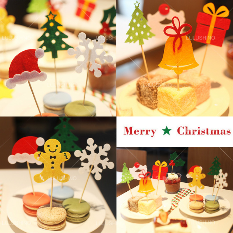 New arrival lovely design merry christmas series cake insert cards new arrival lovely design merry christmas series cake insert cards cake decorations children happy birthday party gift 10pcslot in cake decorating supplies bookmarktalkfo Images