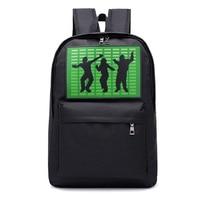 smart voice control flash light backpack men women Teen Zipper Canvas school bag computer large capacity travel anime backpack