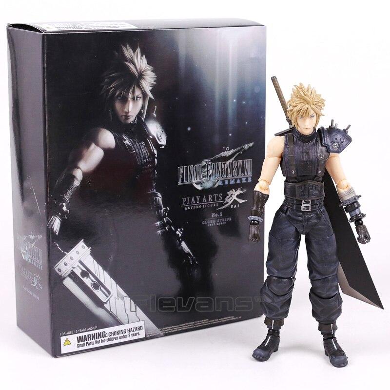 Играть искусств Кай Final Fantasy VII 7 № 1 Cloud Strife ПВХ фигурку Коллекционная модель игрушки 26 см