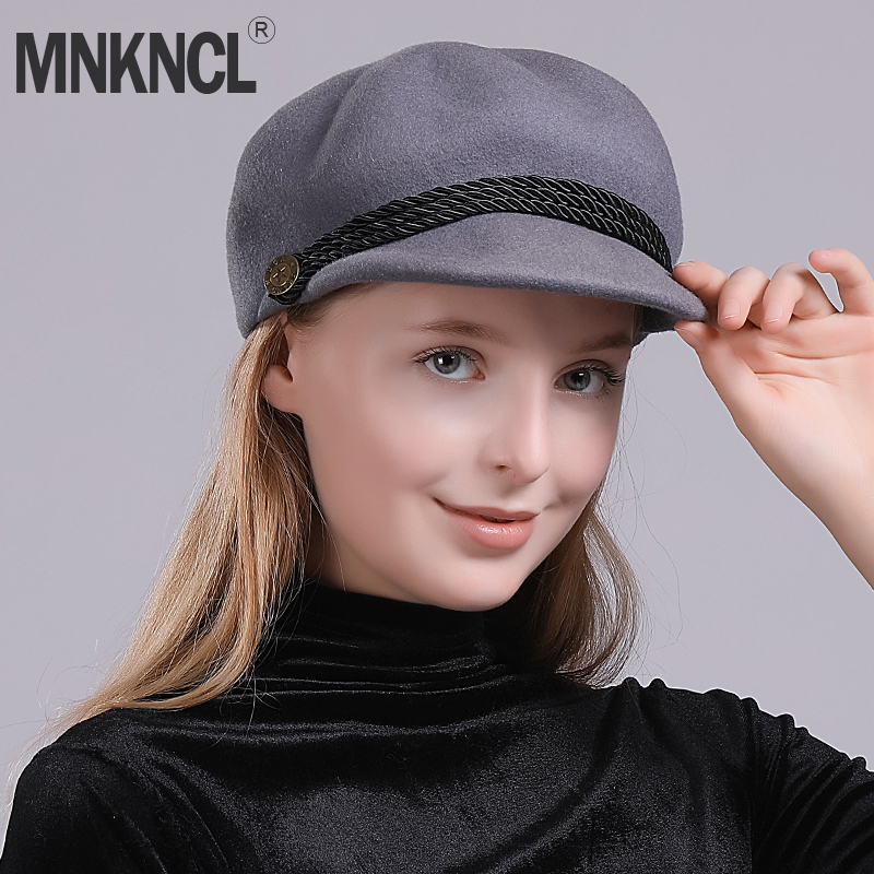 Mnkncl Womens Hats Beret French Beret 100 Wool Fashion Hat Winter Hat For Women-In -9799