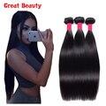 Brazilian Virgin Hair Straight 3Pcs/Lot Unprocessed Virgin Human Hair Weave Brazilian Straight Hair Bundles Cheap Ashion Hair