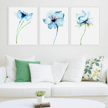 3 Modern Watercolor Orchid Flower A4 Poster Print Floral Living Room Wall Art Picture Nordic Home Decor Canvas Painting No Frame(China)