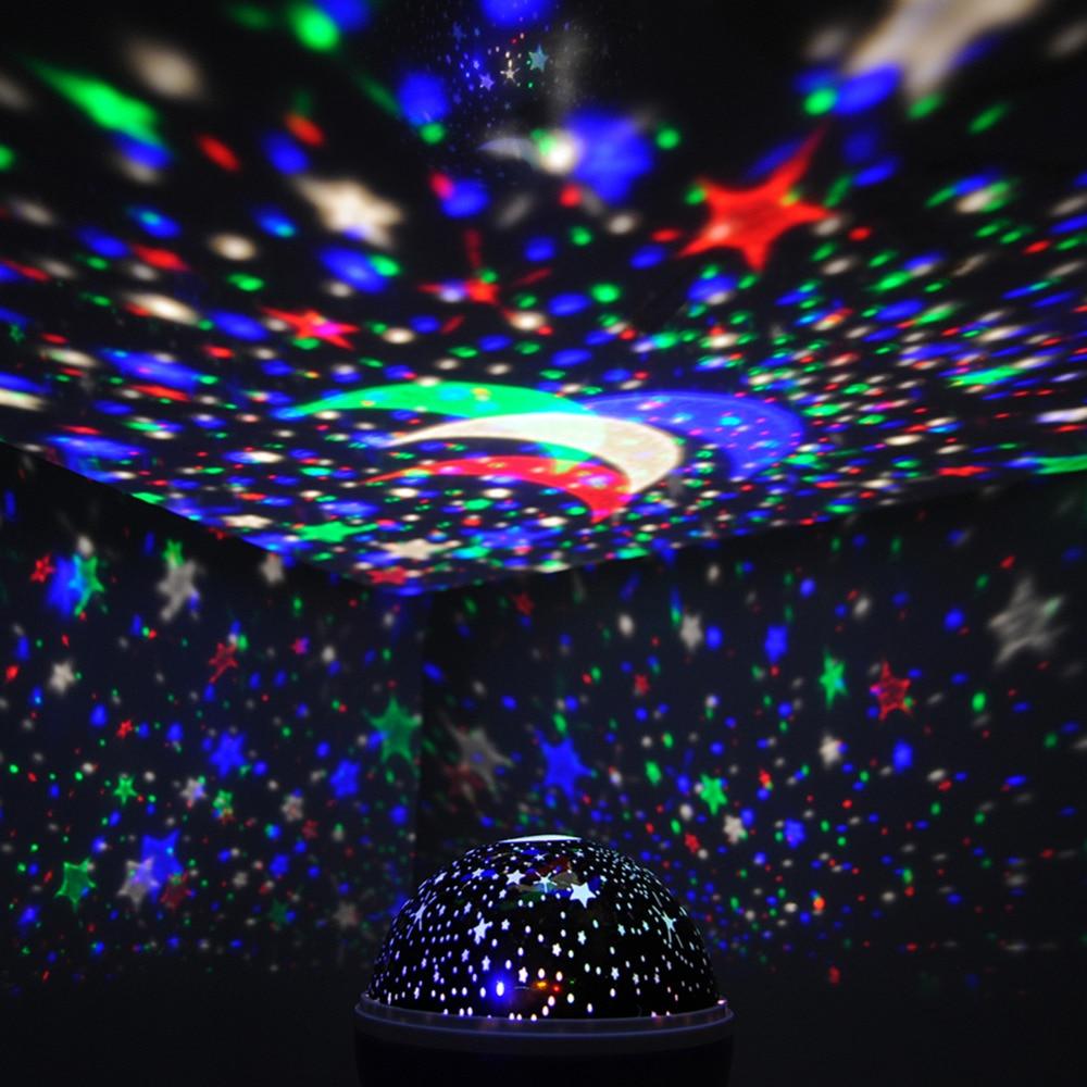 360 Graden Romantische Kamer Zon Ster Verlichting Lamp 4 LED ...