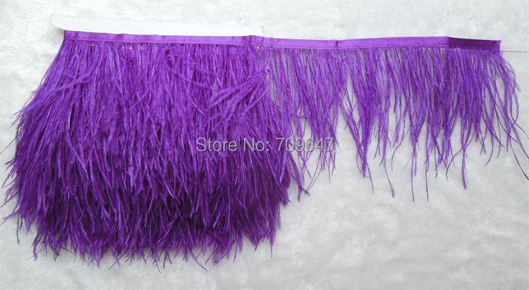 04f6263ee49a ⊱2 metros lote autruche violet plume recadrage fringe plume d ...