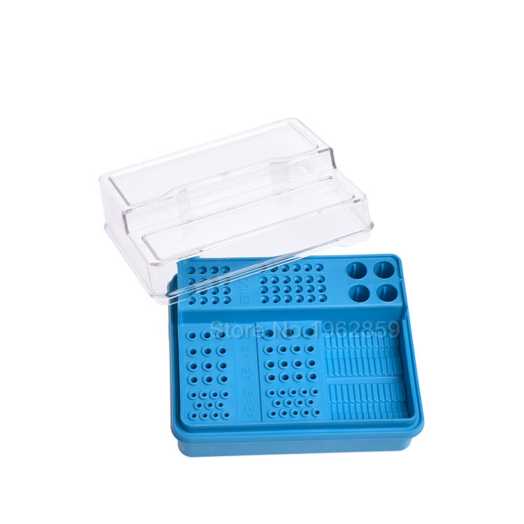 Dental Endo Box FG RA HP Burs Holder Autoclave Disinfection Box 91 holes+4 holes+1 pan песочник endo