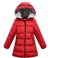 2018 New Kids Parka Children Clothing Girls Winter Coat Warm Cotton Down Winter Girls Jackets Hooded Thicken Girls Outerwear