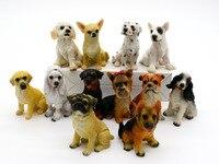 12pcs Set DIY Bonsai Figurines Chihuahua Shar Pei Dalmatian Hot Toy Mini Dog Micro Plant Fairy