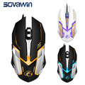 Wired Gaming Mouse 3200 DPI 6 Buttons Breathe 7 Colors LED Optical Gamer Mice for Desktop Laptop Video Game