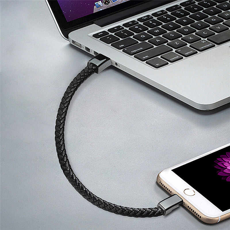 Hot Real Leather Micro USB Bracelet Charger Data Charging Cable Sync Cord For iPhone 6 6s 7Plus Android Type-C XPAY Phone Cable