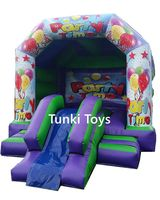 Inflatable Bouncy Castle With Small Slide Party Rental Bouncer