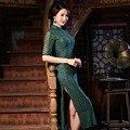 Nuevas mujeres de Largo Cheongsam Tradicional de La Venta Caliente China Cordón de la Señora qipao elegante slim dress tamaño sml xl xxl f072420