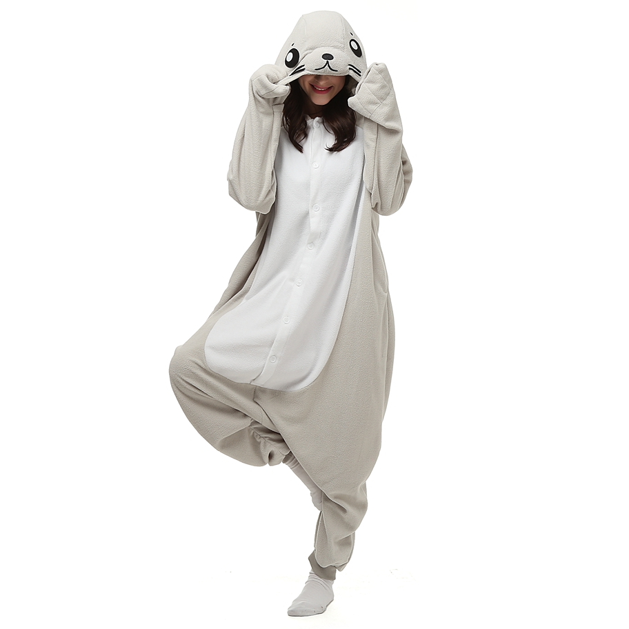 The Seal Animal Pajamas Onesie For Adults Ladies Women Unisex Fleece Pijamas Sell Online LTY18