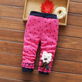 Hot Sale High Quality Children Pants 2017 Winter Autumn Hearts Printed Cartoon Thick Warm Girls Cotton Pants 4 Color WJ0572
