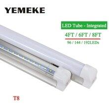 High Power LED Tube 4ft 6ft 8ft Led BulbsTubes T8 Integrated 96led