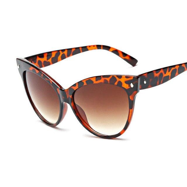 Nail Temple Vintage Oversized Circle Cat Eye Women Sunglasses Dapper  Fashion Femmes Oeil De Chat Lunettes 6eb4231042f4