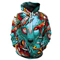 2017 Sweatshirts Men Hoodie 3D Anime Tiger Lion Cat Unicorn Hoody Pullover Coat Man Woman Tracksuit Hip Hop Streetwear Thrasher